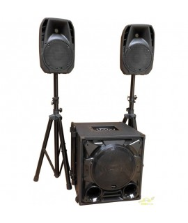 Sistema activo party-1100bt 1 sub + 2 cajas 8""